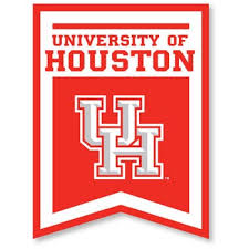 Image of the University of Houston's logo on a banner in red and whilte