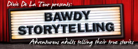 Bawdy Storytelling's website banner logo