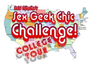 Reid Mihalko's Sex Geek Chic Challenge College Tour logo