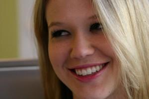 Smiling close up of YouTube.com's sex educator celebrity Kicesie Drew
