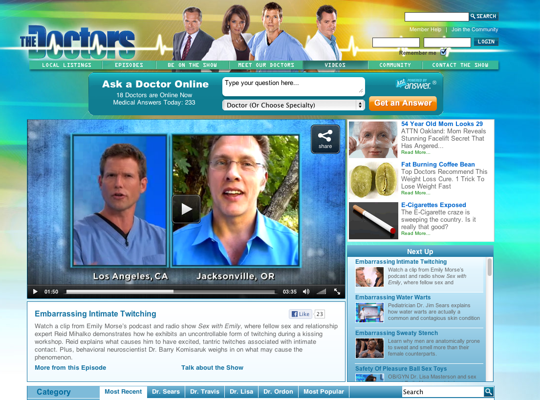 ReidonCBSTheDoctors websitepage1 The Premier Palm Springs Gay Men's Resort. Welcome to Helios, a Men's Resort ...