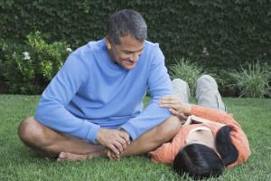 Hispanic couple relaxing