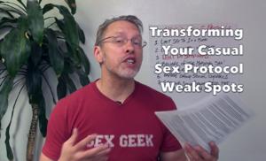Image of sex and relationship educator Reid Mihalko of ReidAboutSex.com teaching his Transforming Your Casual Sex Protocols Weak Spots program